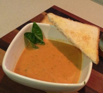 What's Cooking?  FRESH Cream of Tomato-Basil Soup