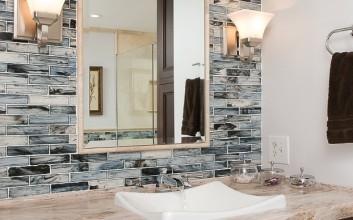 Mosaic Tile Bathroom Remodel