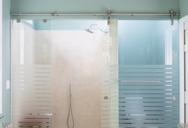 Sliding Shower with Curbless Entry