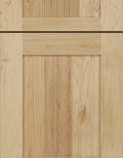 FRAMELESS- Mission Raised Panel maple Natural